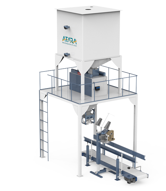 Four Weighing With Single Station Pulses Packing Machine (5-10 / 10-25 Kg)5