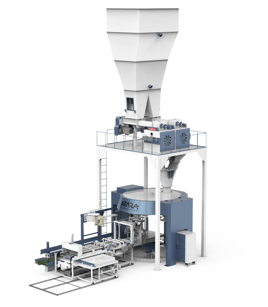 Flour Packing Machine With Single Helix Double Weighing Single Station (5-10/15-25) Kg1