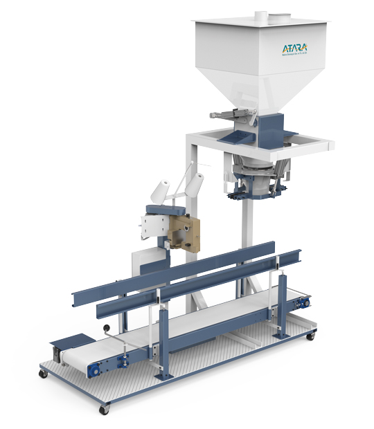 Double Weighing Single Station Pulses Packing Machine (5-10 / 10-25 Kg)4