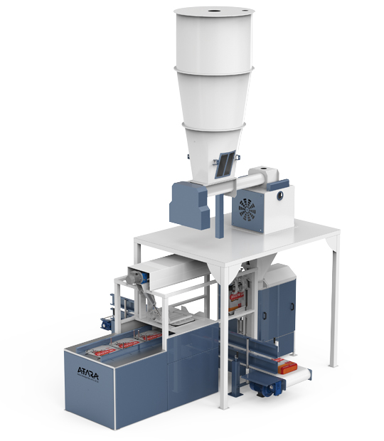Single Weigh Double Filling Valve Type Flour Packing Machine (25 Kg)2